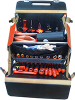 "Tool Case Leather 1000 V, 1/2"" 51-pieces"
