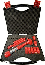 "Tool Case 1000 V 1/4"" 21 pcs. with Foam padding"